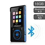 Puersit MP3 Player with Bluetooth 4.0 Hi-Fi 16 GB 50 Hours Lossless Sound