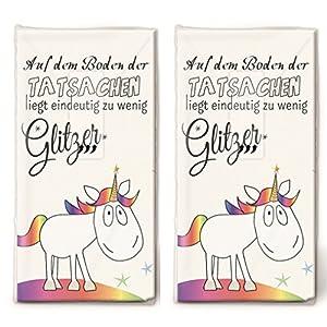 20 Taschentücher (2x 10) Einhorn für mehr Glitzer / Kinder / Geburtstag