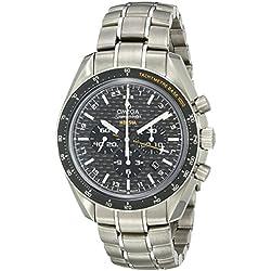 Omega Speedmaster HB-SIA - Reloj (Reloj de pulsera, Masculino, Titanio, Negro, Oscuro metalizado, Titanio, Oscuro metalizado)