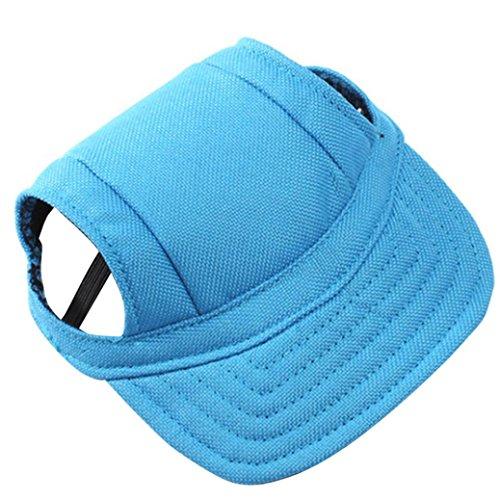 HARRYSTORE Sommer Haustier Hund Hut Netter Reiner Farben Kappen Baseball Hut Kleiner Hund-im Freienhut (S, Blau)