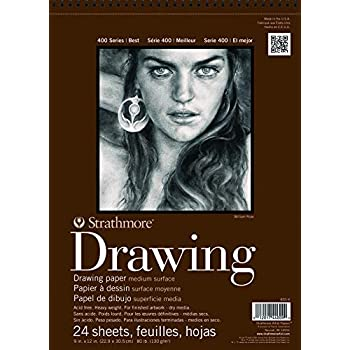 24 S Pro-Art Paper Strathmore Medium Drawing Spiral Paper Pad 11-inch x 14-inch