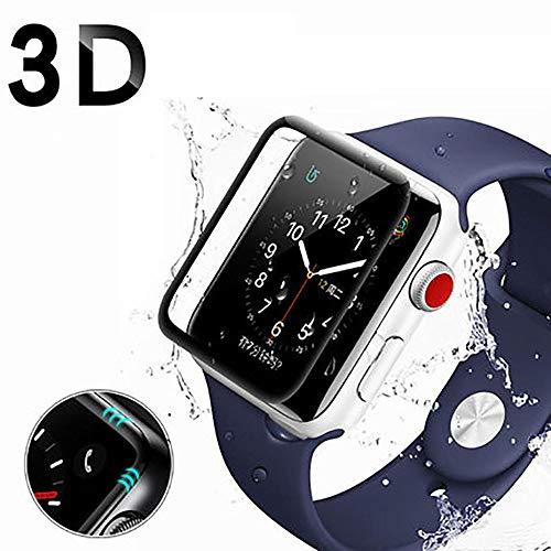 Yagii 2 Stück Schutzfolie für Apple Watch Series 1/2/3 42MM Volle Abdeckung Bildschirmschutzfolie Anti-Bubble HD Klar Bildschirmschutz Folie