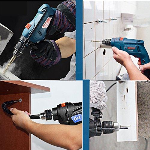 JTENG DIY Zahnkranzbohrfutter 1.5-13, 1/2 Zoll-20 Bohrfutter mit Schlüssel und SDS Plus Adapter - 3