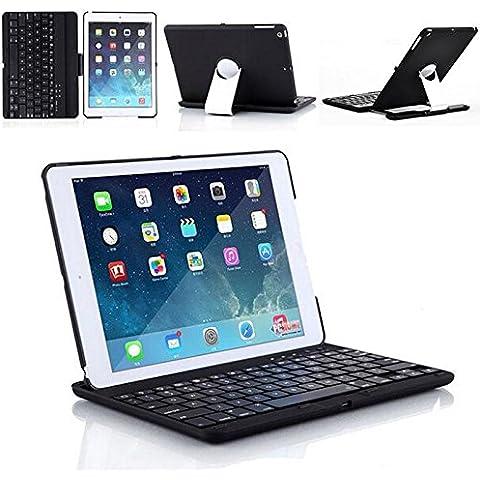 iClever® Tastiera Bluetooth Wireless con Cover e Stand Girevole 360 Gradi per iPad Air 5