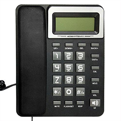 Telefon schwarzer Büro-Hotelhaus örtlicher fester Sitz