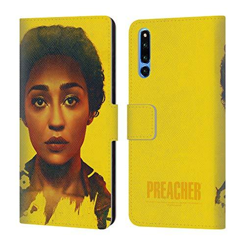 Head Case Designs Offizielle Preacher Tulip O'Hare Werbemotiven Staffel 2 Leder Brieftaschen Huelle kompatibel mit Huawei Honor Magic 2 - Tulip Magic