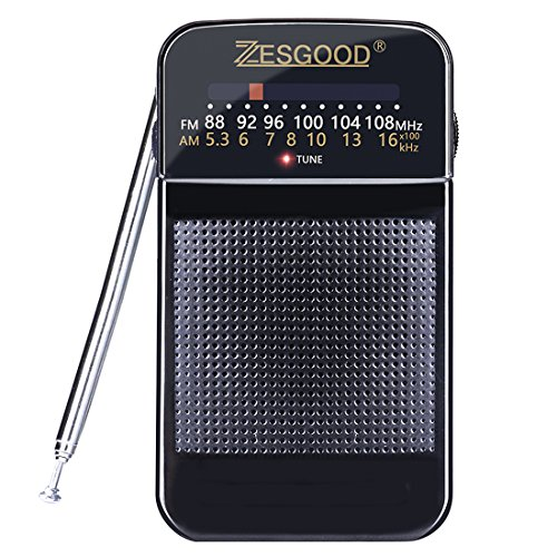 ZesGood Portable Radio AM FM Bat...