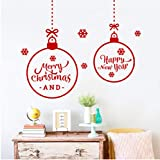 Jkxiansheng 29X42 Cm Ampoule Joyeux Lettres De Noël Stickers Muraux Chambre Fenêtre Home Decor Année Stickers Muraux Vinyle Affiches