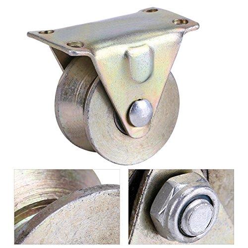 Gate Roller (Zunate Schiebetür Riemenscheibe,Stahl Schiebetür Gate Roller Schiebetür Roller mit Halterung,V-förmige Radschiene,kein Geräusch,wasserdicht, korrosionsbeständig,2-Zoll-V-Räder,2pcs)