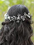 handmadejewelrylady accesorio de imitación de cristal boda novia diadema pelo Vine Mujer Velada Fiesta accesorios para el pelo