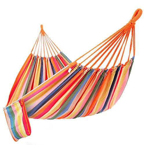 Songmics amaca campegio portata massima 300 kg, 210 x 150 cm (multicolori)