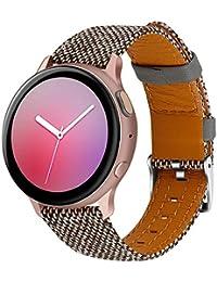ArkUK Cinturini Orologi Tela di Orologi Bracciale per Galaxy Watch 42mm/46mm/Active 20mm Cinturino Orologio per Galaxy Watch 42mm/46mm/Active (20mm, Grigio)