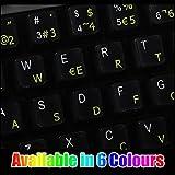 Pegatinas teclado español transparentes con letras BLANCAS - Apto para cualquier teclado