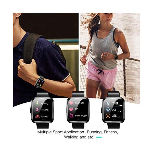Hommie Smartwatch, S2 Reloj Inteligente con Pantalla Táctil Completa, Pulsera Actividad Inteligente ImpermeableIP67 con… 5