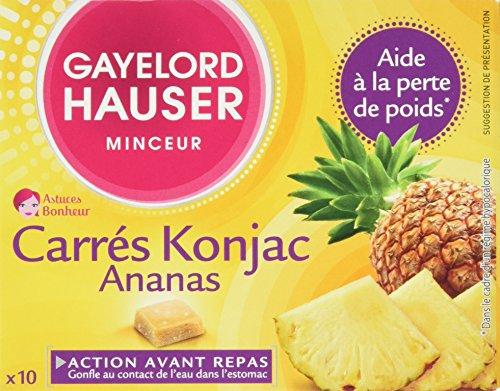 Gayelord Hauser Carres Konjac Ananas Complément pour Perte de Poids