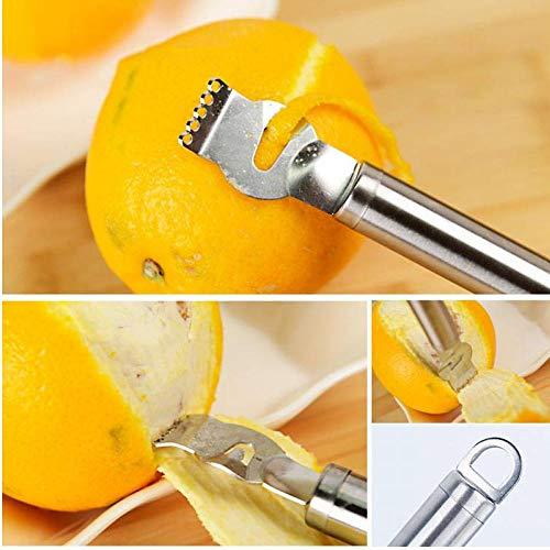 Frutta dell'Acciaio Inossidabile Pelatrici Arancio Limone Zester Grattugia in Acciaio Inox Manopole scorza di Lime Cozinha Strumento Peeling