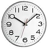 TFA Analoge Wanduhr, Kunststoff, Weiß, (L) 280 x (B) 40 x (H) 280 mm