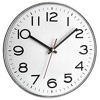 TFA Reloj de Pared electrónico Plata de 300 mm, Blanco (B008GBS0UC) | Amazon Products