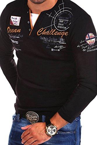 MT Styles 2in1 Longsleeve CHALLER T-Shirt R-0741 Schwarz