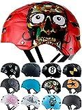 Skullcap® BMX Helm - Skaterhelm - Fahrradhelm - Herren | Damen | Jungs & Kinderhelm Gr. M (55 – 58 cm), Red Ocean