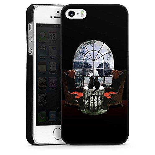Apple iPhone 6 Housse Étui Silicone Coque Protection Pièce Pièce crâne Tête de mort CasDur noir
