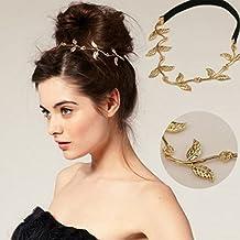 Jovono accessori per capelli catena testa Boemia oro Hair Band Headpiece  foglia catena fascia per le 067cd2d51fab