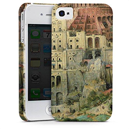 Apple iPhone X Silikon Hülle Case Schutzhülle Turmbau zu Babel Kunst Art Premium Case glänzend