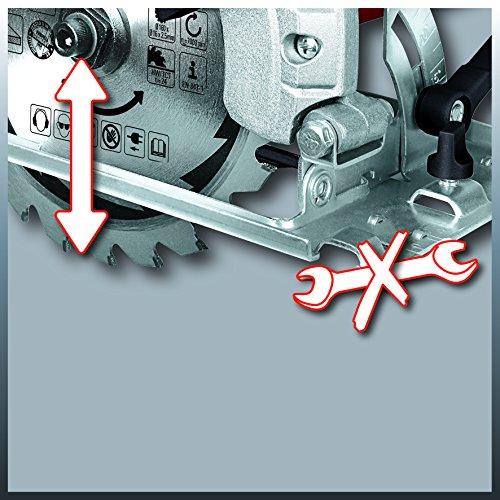 Einhell Handkreissäge TC-CS 1200 (1230 W, max. 55 mm, Sägeblatt Ø 160 mm, 24 Zähne, Parellanschlag) - 4