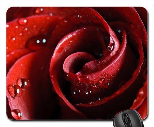 Scarlet Garten (Beautiful Scarlet Rose Mauspad, Mousepad (Blumen Mauspad))