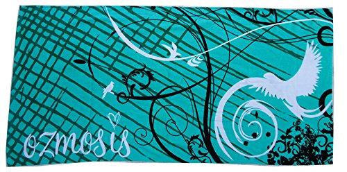 Mangeoo navigare in puro cotone giovane grande asciugamano morbido assorbente acqua uccelli volare 162x81cm,verde,162x81cm