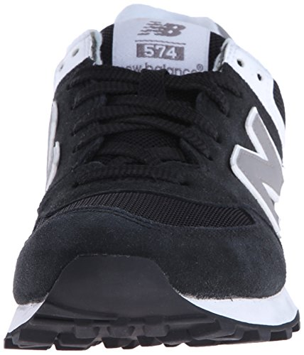 New Balance Classics Traditionnels Black White Womens Trainers - WL574SKW Black/White