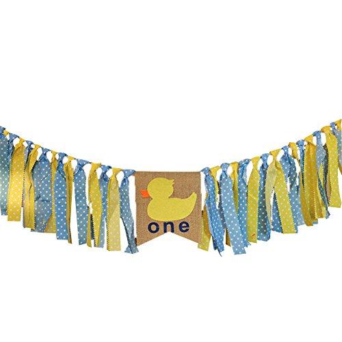 Wimpelkette, Hochstuhl-Motiv, zum 1. Geburtstag, Party, Zeremonie, Dekoration - Ente (Party Ente Dekorationen)