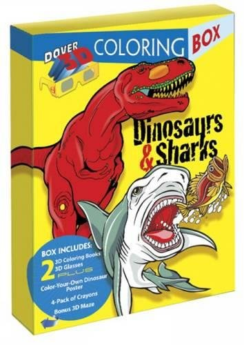 Dinosaurs and Sharks 3-D Coloring Box (Dover Fun Kits)