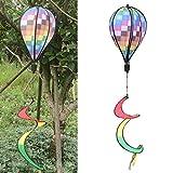 zrshygs Molinos de Viento para niños Jardín Colorido Rejilla de Viento Globo aerostático Viento Spinner Jardín Patio Decoración al Aire Libre
