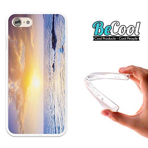 BeCool®- Coque Etui Housse en GEL Flex Silicone TPU Iphone 8, Carcasse TPU fabriquée avec la meilleure Silicone, protège et s'adapte a la perfection a ton Smartphone et avec notre design exclusif. Fro L1244