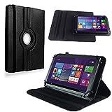 NAUC Tasche Hülle für Jay Tech Tablet PC PA10.1M Tablet Schutzhülle Case Cover 360°, Farben:Schwarz