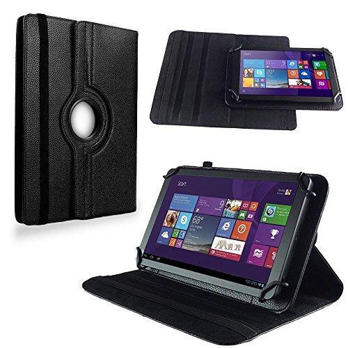 NAUC Tasche Hülle f TrekStor SurfTab Twin 10.1 Tablet Schutzhülle Case Schutz Cover, Farben:Schwarz