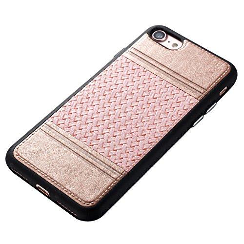 Étui en gel doux iPhone 8, Coque iPhone 7, Lifetrut Ultra Mince Doux [Motif en cuir] Housse en Caoutchouc TPU pour iPhone 8/ iPhone 7 [01] E205