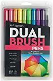 Tombow Bright Dual Brush Markers, Pack of 10
