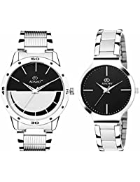 ADAMO Designer Analog Black Dial Unisex's Watch-A816-817SM02