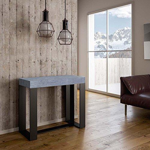Group design consolle futura in legno cemento l.90 x h.77 x p.40 fino 300cm