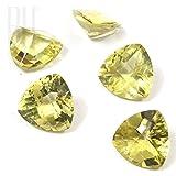 Be You gelbe Zitrone Farbe natürliche Brasilianischer Zitronen-Quarz AAA Qualität 15x15 mm facettiert Schnitt Trillion Form 9.77cts 1 Stücke Lose Edelstein