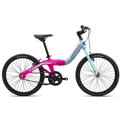 ORBEA Grow 2 Kinder Fahrrad 20 Zoll 1 Gang Rad Aluminium mitwachsend einstellbar, G00320K, Farbe Blau Rosa