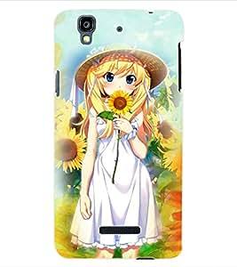 ColourCraft Girly Back Case Cover for YU YUREKA PLUS