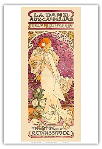 La Dame aux Came _ Lias, Sarah Bernhardt, Theater (Theater) de la Renaissance, Paris, Kunst Nouveau-La Belle époque-