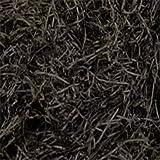 BLACK 500g GRAMS LUXURY EXTRA SOFT SHREDDED TISSUE PAPER HAMPER/GIFT PACKAGING FILLER - ACID FREE