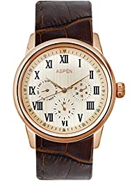(CERTIFIED REFURBISHED) Aspen Multifunction Analog Off-White Dial Men's Watch - AM0059
