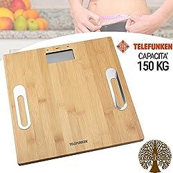 Telefunken 8711252156231Percentuale di grasso corporeo bilancia con acqua di visualizzazione