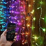 Smart App kontollierter Lichter-Vorhang-Wandteppich - TWINKLY - für Innen und Outdoor - unzählige Farb-, Muster- und Animations-Kombinationen, von Festive Lights (B 2,5m L 0,8m)