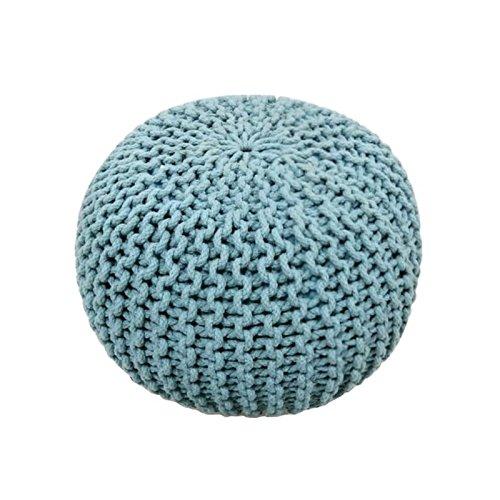 VICTORY SPORT Today Sitzsack Strick Waby Sabi-100% Baumwolle 45x H30cm hellblau